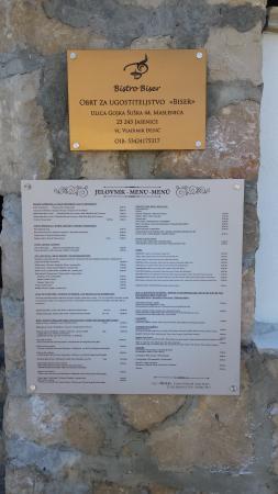 Maslenica, Kroatia: Bistro Biser