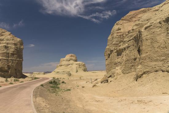 Karamay, China: Sights on roadway tour