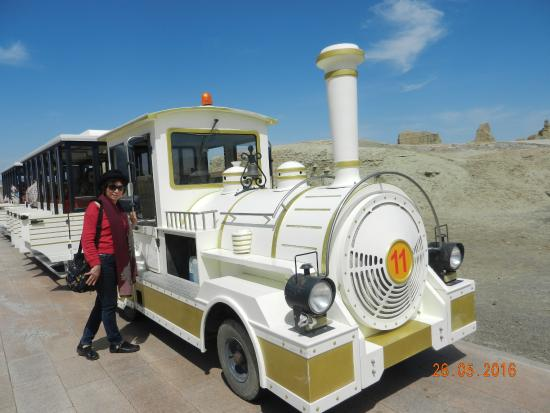 Karamay, China: Tourist cars used inside