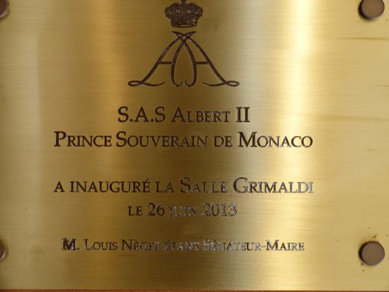 Chateau Grimaldi Musee d'Art Moderne Mediterraneen: Inauguration de la salle Grimaldi.