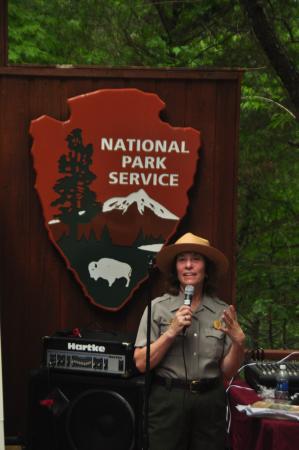 Carl Sandburg Home National Historic Site: National Park Service Ranger introducing entertainers