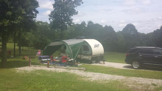 Mountain View, MO : our Spot at the campground