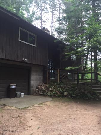 Black's Cliff Resort: Red pine cabin and Lower Kaubashine Lake
