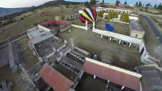 Huamantla, Mexiko: Vuela en globo aerostático, despegando de hacienda Baquedano