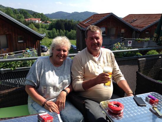 Hotel Bayerischer Wald: Panorama Aussicht vom Restaurant-Balkon