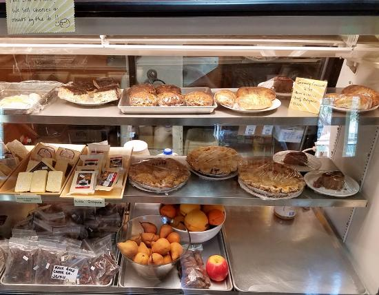 Elkton, OR: Pies and other treats in a cool case