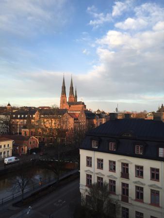 อุปซอลา, สวีเดน: cathedral as seen from my hotel room!