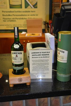 546c3aa467b Jameson Distillery Midleton  Gift shop option. Personalized 12yr Jameson  Reserve