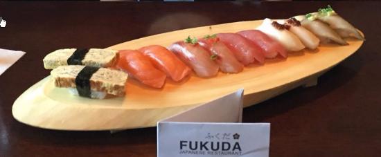fukuda sushi: Pretty nigiri but mushy rice