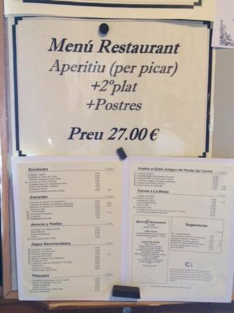 Gran menú... que no incluye bebidas ni PAN !!!