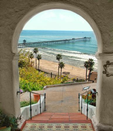 Сан-Клементе, Калифорния: Casa Romantica Pier view, San Clemente