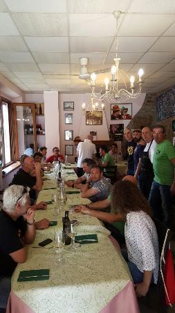 Roccatederighi, Itália: Pranzo gruppo mtb