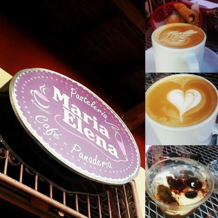 Pasteleria Maria Elena: cafe y el postre tipico pioquinto