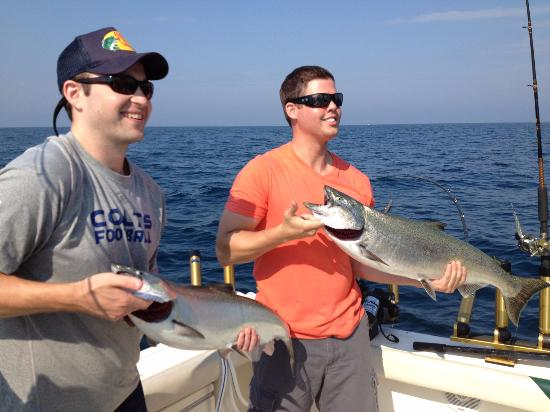 New Buffalo, MI: Good buddies and good fish!