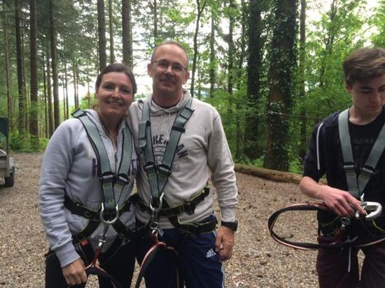 Zip World Fforest: Harnessed and ready to go