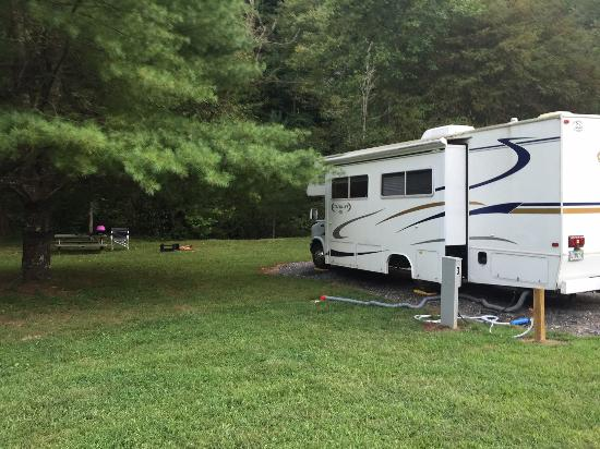 Ferguson, NC: Beautiful, well-groomed, large campsites!
