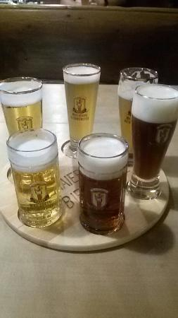 Altomunster, Niemcy: 6*100 to taste the brewery beer. The darj one is very good.