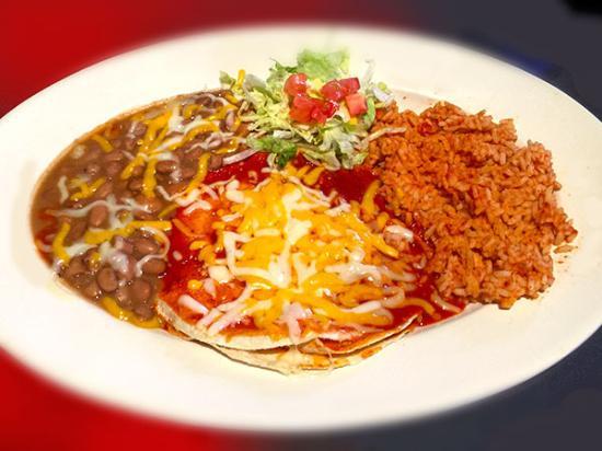 Corrales, Nuevo Mexico: Enchiladas