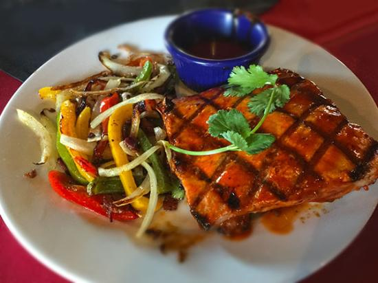 Corrales, NM: Bourbon salmon
