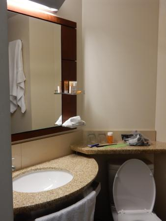 bathroom vanity & commode - Picture of River Hotel, Chicago ...
