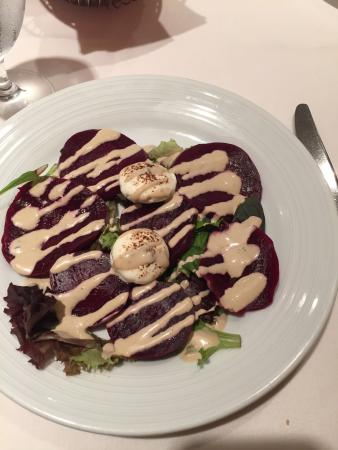Blue Bell, PA: Chilean Sea Bass and Beet salad with Goat Cheese