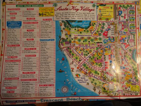 siesta key village florida map