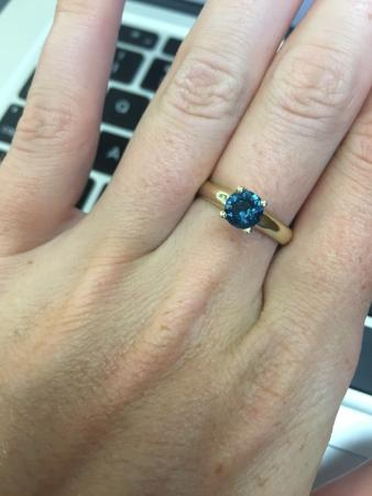 sapphire montana teal iltf moissanite il rose light green listing cut blue