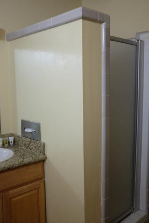 Silver Surf Motel: Chuveiro muito baixo, o que dificultou bastante lavar o cabelo