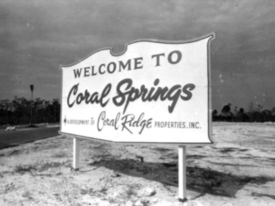 Coral Springs, FL old city sign