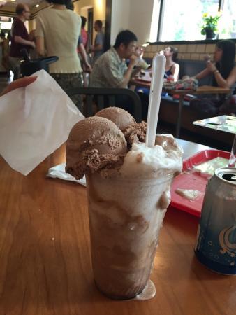 Purity Ice Cream Co: Chocolate ice-cream soda, (Yes I finished it!)