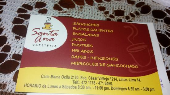 Cafeteria Santa Ana