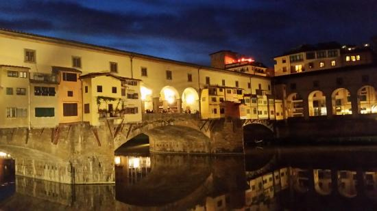 The view of Ponte Vecchio from the Golden View Open Bar