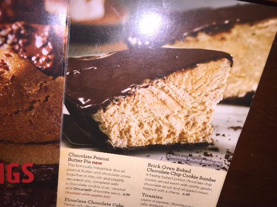 Bertucci's: Advertised Peanut Butter Pie