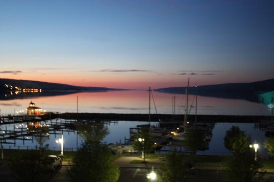 Watkins Glen Harbor Hotel Sunset On Seneca Lake From My Room