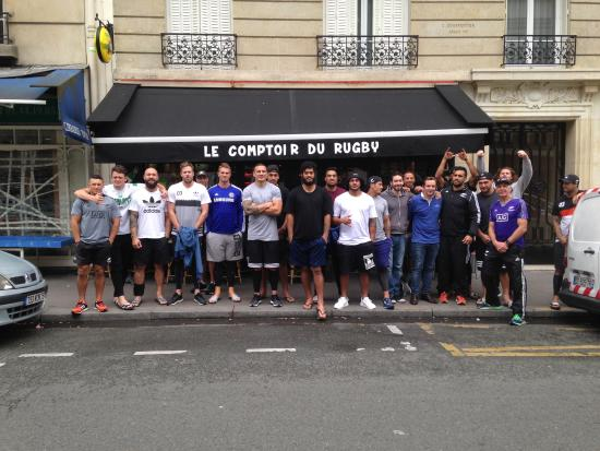 Les all blacks au comptoir picture of le comptoir bar - Le comptoir paris restaurant reservations ...