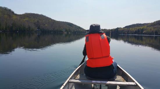 Hotel-Motel Le Boise Du Lac: Canoeing on the lake
