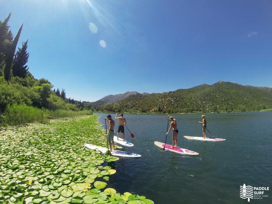 Ploce, كرواتيا: Bacins Lakes paddleboard tour