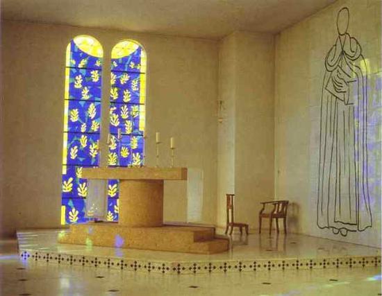 """Résultat de recherche d'images pour """"vence, chapelle du rosaire, intérieur"""""""
