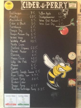 The Woodbine Inn: Cider list 27 Ciders & Perry's!