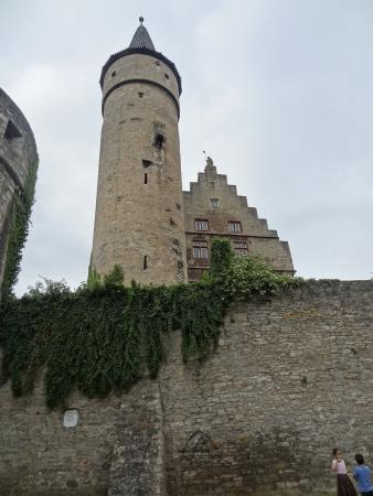 Stadtbefestigung (fortifications): tower and old townhall