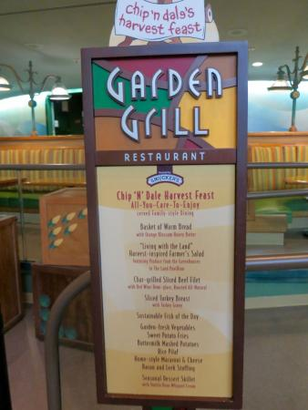 The Feast Menu Picture Of Garden Grill Orlando Tripadvisor