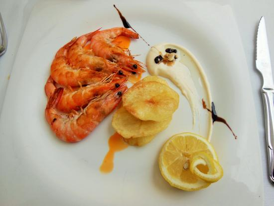 Zeria: le plat de gambas grillés (plat principal)