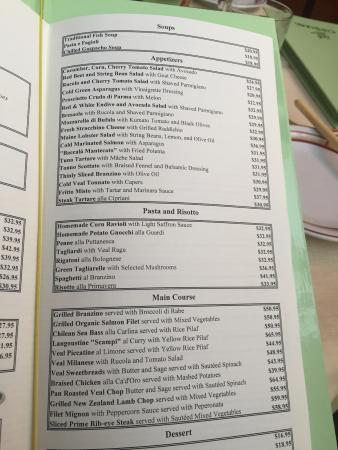 Menu Picture Of Harry Cipriani New