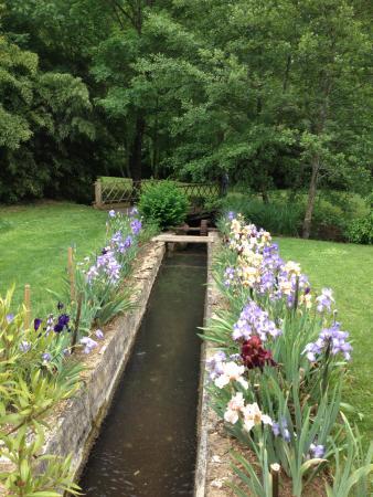 Auriac-du-Perigord, Frankrike: Un endroit du jardin pres de la roue à aubes
