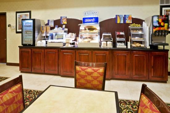 Holiday Inn Express Hotel & Suites New Boston: Breakfast Bar Serving Complimentary Hot Breakfast