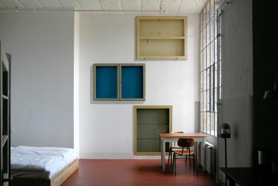 Meisterzimmer - Pension in der Leipziger Baumwollspinnerei: Meisterzimmer 4 (42m² 2 Personen)