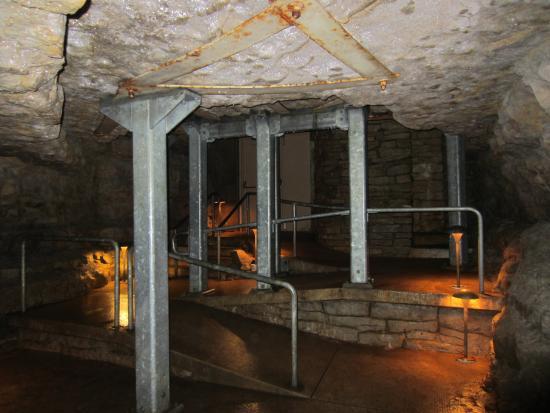 Preston, MN: Near the exit of the cave