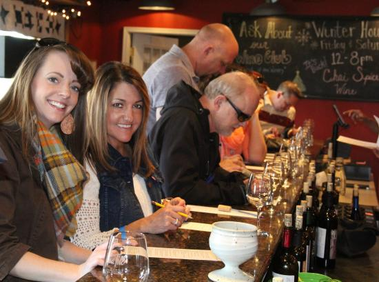 Excelsior Springs Chamber of Commerce Trolley Wine Tour: Picking wines at Van Till