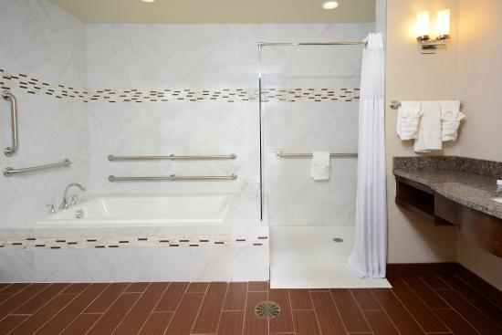 Hilton Garden Inn Greensboro Airport: Suite Tub And Roll In Shower