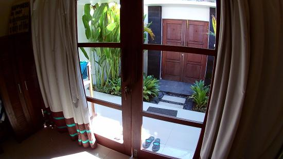 Tir Na Nóg Gili Trawangan Accommodation: love the vibe of having a very own small outdoor area before the main door going out of the room